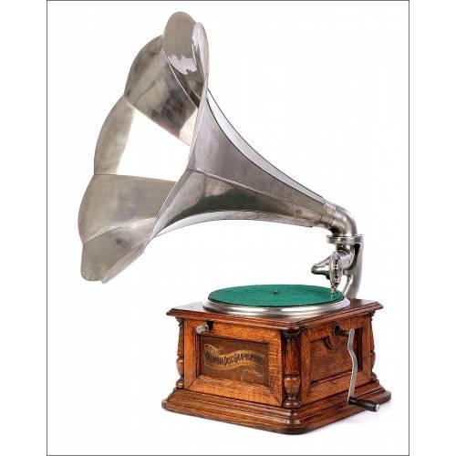 Antiguo Gramófono Columbia Sterling. Estados Unidos, Circa 1910