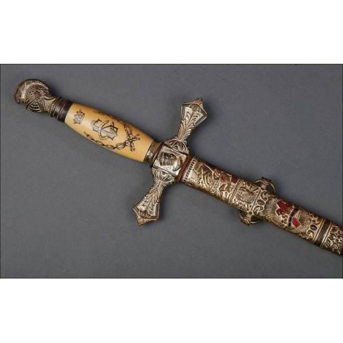 Antigua Espada Masónica Templaria. USA, 1900