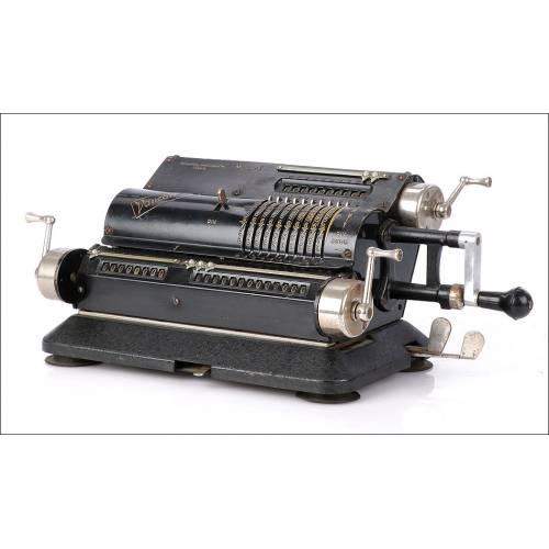 Antigua Calculadora Mecánica Vaucanson Modelo B. Francia, 1930