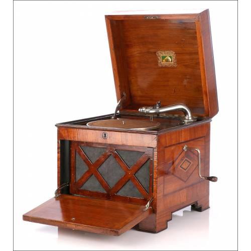 Raro Gramófono HMV para la Exportación a las Colonias Británicas. Circa 1930