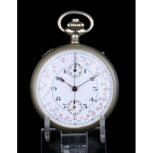 Antiguo Cronómetro-Reloj de Bolsillo. Oficial de Artillería. Francia, Circa 1915