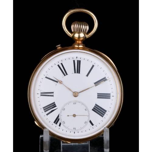 Antiguo Reloj de Bolsillo de Oro de 18K. Posible Patek Philippe. Suiza circa 1900