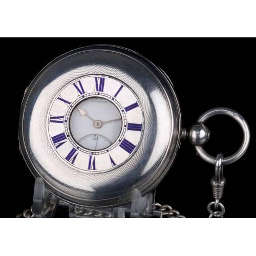Antiguo Reloj De Bolsillo de Caballero en Plata Maciza. The Ludgate. Inglaterra 1886