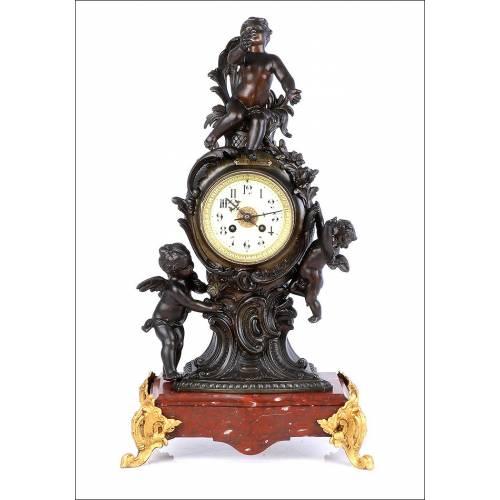 Antiguo Reloj de Péndulo Francés. Francia, Circa 1880