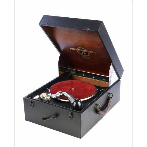 Antiguo Gramófono Columbia Mod. 160. Portátil. USA, Años 20