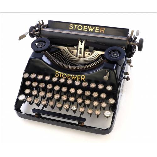 Antigua Máquina de Escribir Stoewer. Alemania, 1926
