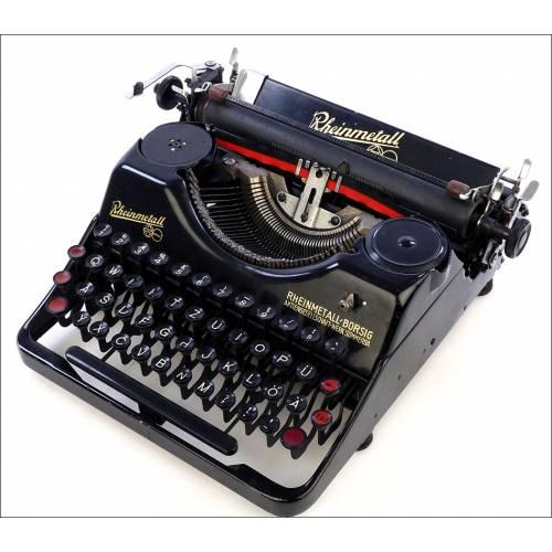 Máquina de Escribir Rheinmetall. Antigua. Alemania, 1931