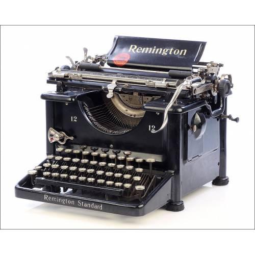 Antigua Máquina de Escribir Remington Standard 12. Alemania, 1924
