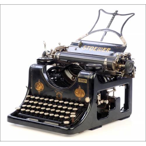 Antigua Máquina de Escribir Stoewer Record. Alemania, 1910