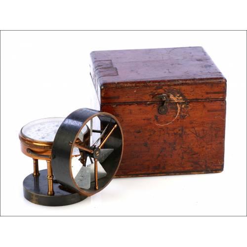 Antiguo Anemómetro en su Estuche. Inglaterra, Circa 1900
