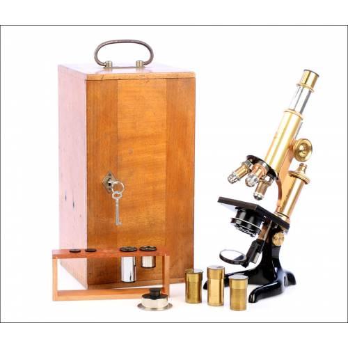 Antiguo Microscopio Leitz Wetzlar. Alemania, 1913