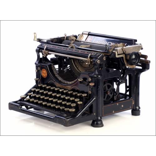 Antigua Máquina de Escribir Underwood 5 Española. España, Circa 1915