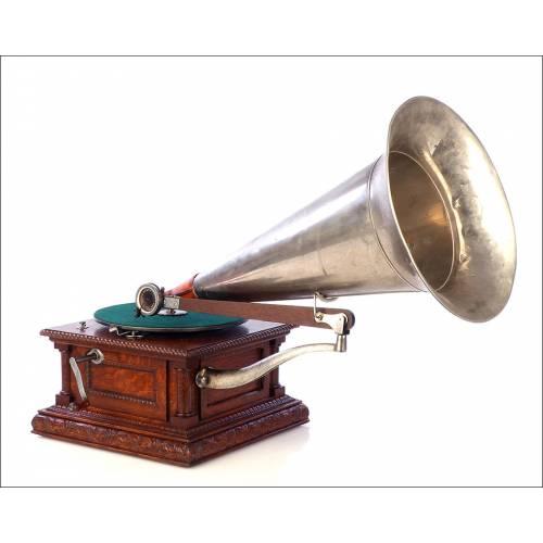Antiguo Gramófono HMV Monarch Europeo. Francia, 1903