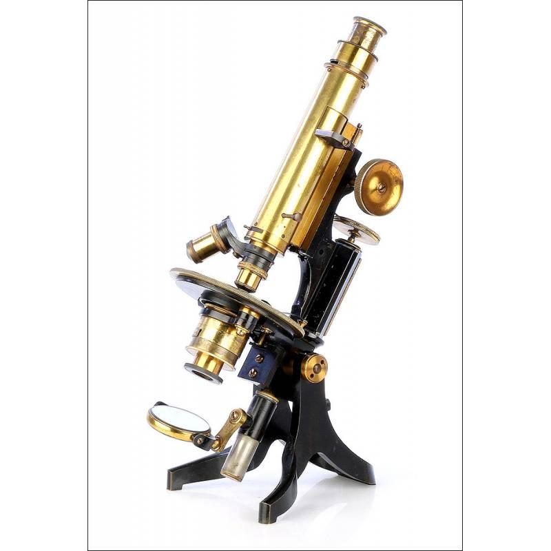 Antiguo Microscopio Petrológico Swift & Son. Inglaterra, 1913