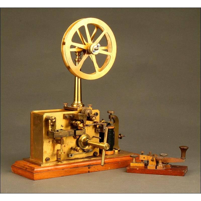 Telégrafo Austriaco Kapsch & Söhne , Fabricado en 1895. Completo y Bien Conservado