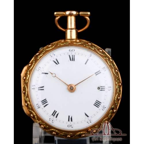 Reloj de Bolsillo Catalino Graham. Sonería a Cuartos. Oro Rosa 18K. Inglaterra, Circa 1720