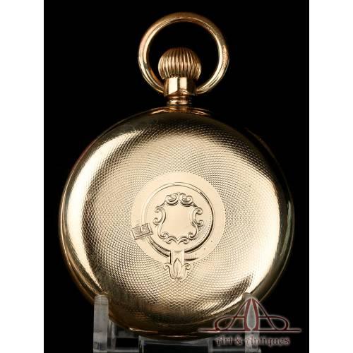 Precioso Reloj de Bolsillo Antiguo Nirvana International. Chapado Oro. Circa 1900