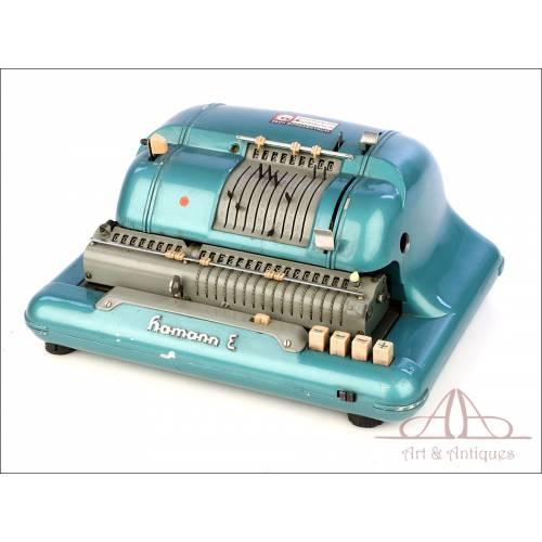 Antigua Calculadora Eléctrica Hamann E. Alemania, Finales de los 1950