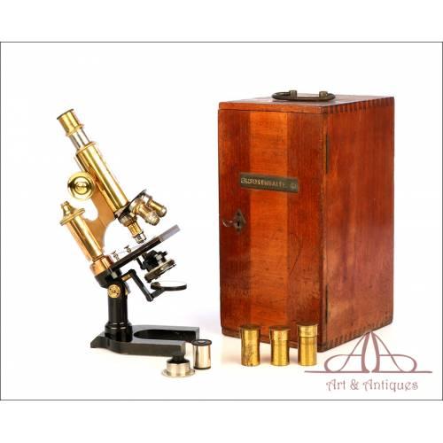 Antiguo Microscopio Ernst Leitz Wetzlar. Alemania, 1908