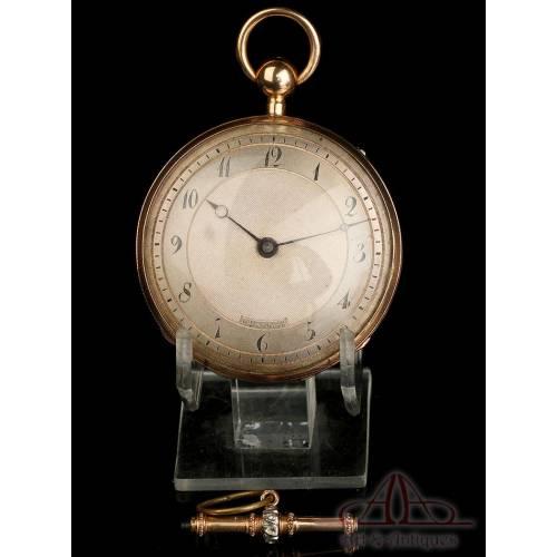 Antiguo Reloj de Bolsillo de Oro de 18K con Sonería de Cuartos. Suiza, Circa 1850