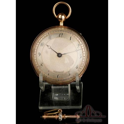 Antique 18K Gold Quarter Repeater Pocket Watch. Neuchâtel, Switzerland, Circa 1850
