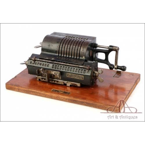 Antigua Calculadora Mecánica Trinks Brunsviga. Alemania, Circa 1920