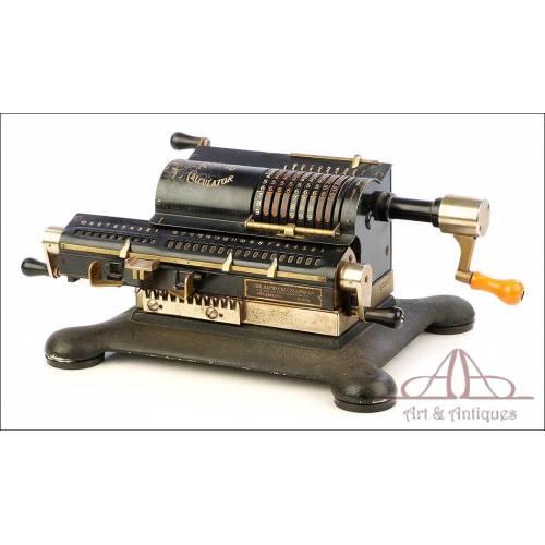 Antigua y Rara Calculadora Mecánica Rapid Calculator. USA, Circa 1920