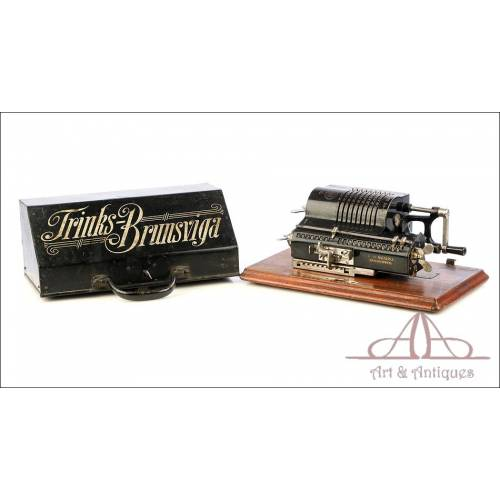 Antique Trinks Brunsviga Mechanical Calculator. Germany, Circa 1930