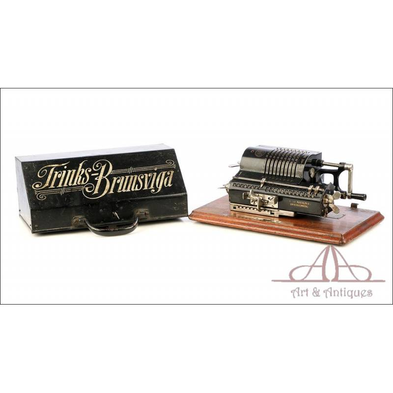 Antigua Calculadora Mecánica Trinks Brunsviga. Alemania, Circa 1930