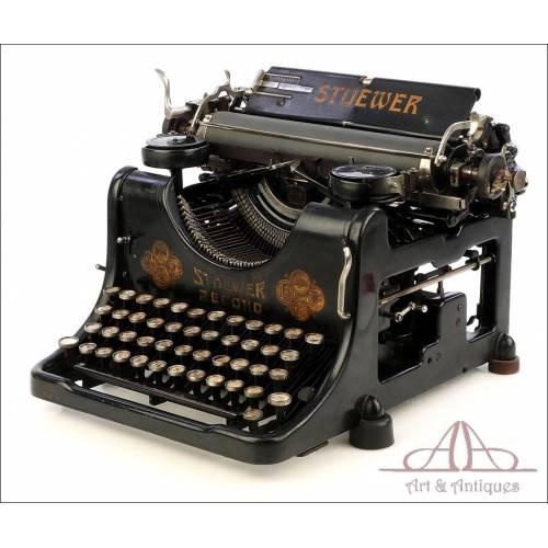Máquina de Escribir Stoewer. Antigua. Alemania, Circa 1910