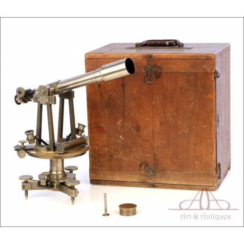 Antique French A. Hurlimann Theodolite. Paris, France, Circa 1870