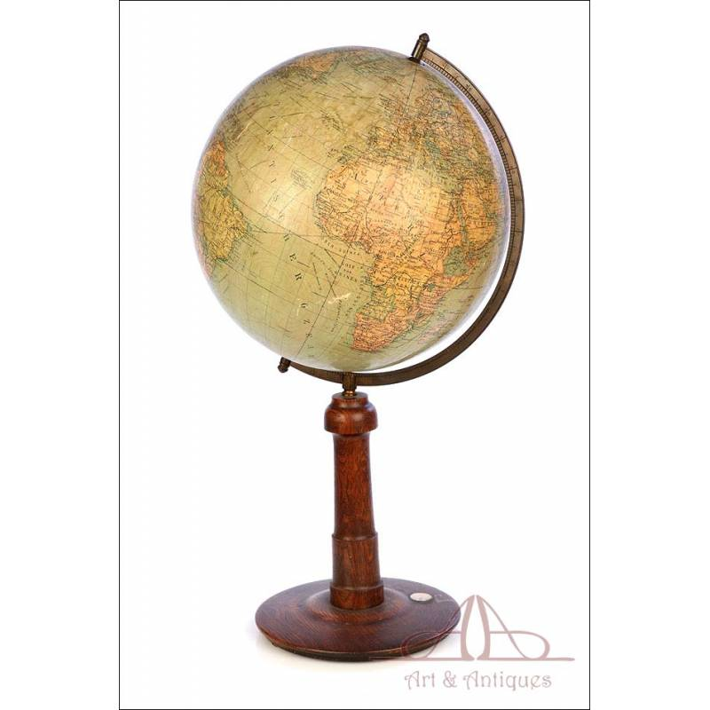 Antique Columbus Earth Globe. Big Size. Germany, Circa 1930