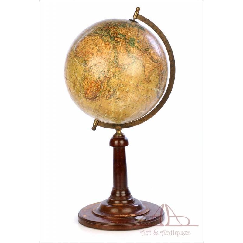 Antique Adolf Mang World Globe. Germany, Circa 1920
