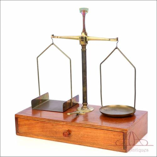Antique French Scale with Weigh Set. France, Circa 1930