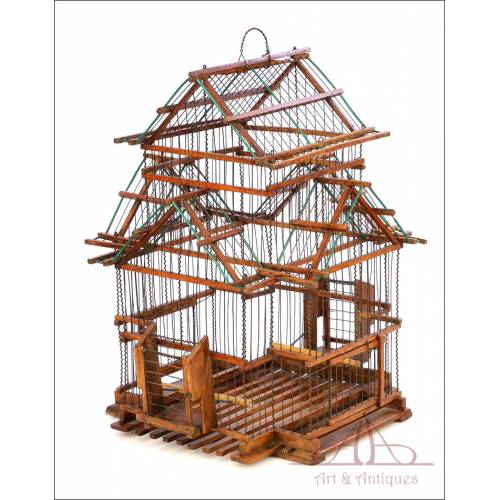 Antique Birdhouse or Birdcage. Spain, Circa 1940