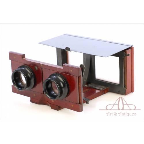 Estereoscopio Mecánico Plegable Vérascope de Jules Richard. Francia, Circa 1910