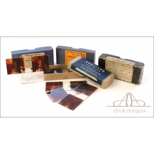 Colección de 57 Fotografías Estereoscópicas de 45x107 mm. Francia, Circa 1920