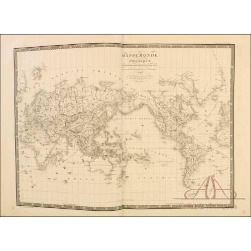 Gran Atlas Universal Tamaño Gran Folio. Francia, Circa 1820