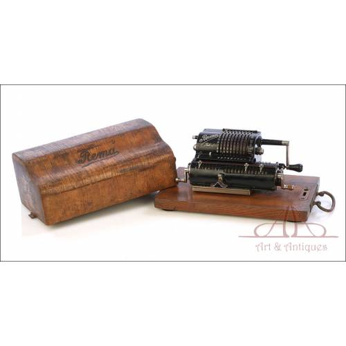 Antigua Calculadora Mecánica Rema Modelo 1. Alemania, Circa 1920