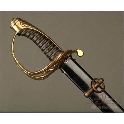 Antigua Espada Sable Imperial Alemana. Periodo del Kaiser Guillermo. Circa 1920