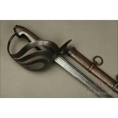 Magnífica Espada Italiana para Oficial de Caballería Modelo 1873