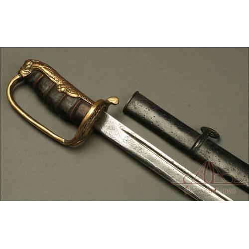 Rara Espada de Infantería del Sudeste Asiático. Circa 1900