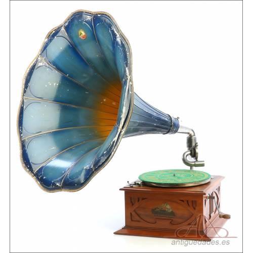 Antiguo Gramófono La Voz De Su Amo Español. Modelo 3. España, 1915-1920