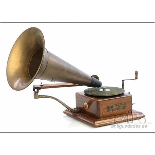 Antiguo Gramófono Berliner modelo New Style. Francia, 1902-1905