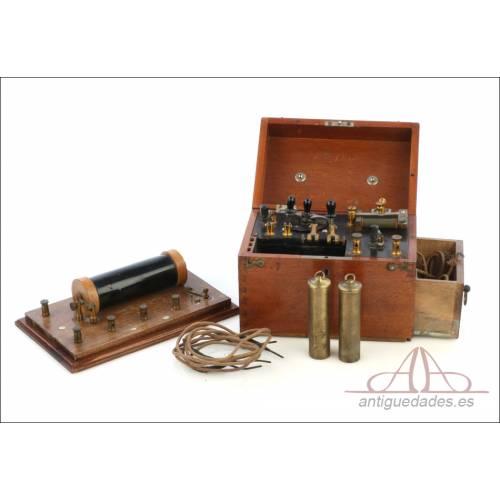 Antiguo Aparato Médico de Electroterapia. Circa 1900