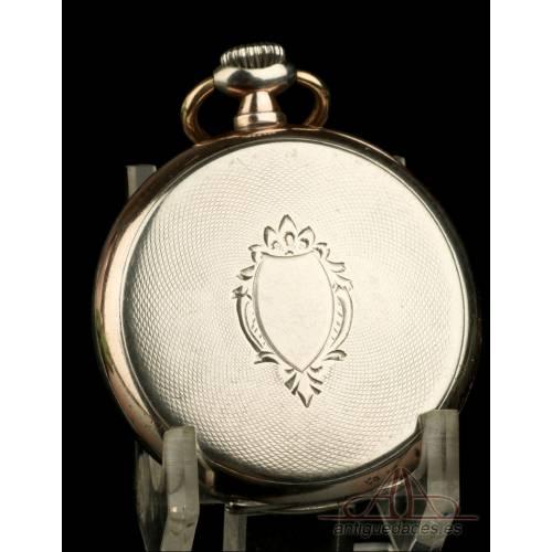 Bonito Reloj de Bolsillo Antiguo en Plata Maciza. Suiza, Circa 1900