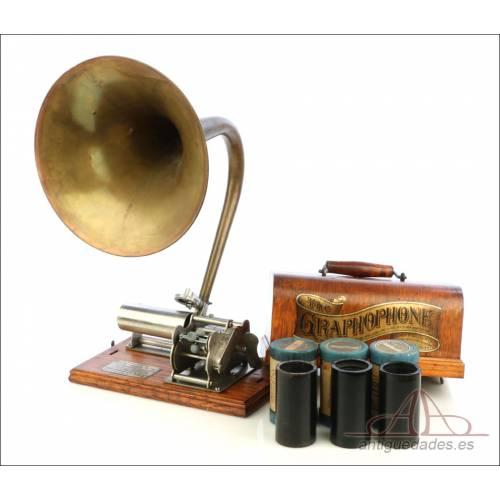 Antiguo Fonógrafo Columbia Modelo B. USA, Circa 1900