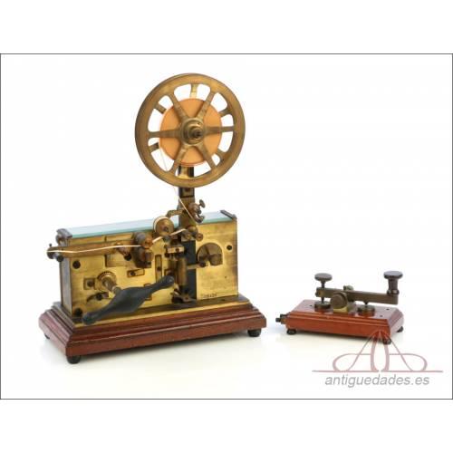 Antiguo Telégrafo-Aparato Morse Italiano. Italia circa 1900