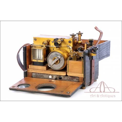 Antiguo Telégrafo-Estación Morse Militar de Campaña. Circa 1900