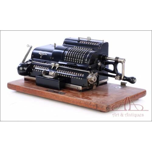 Fantástica Calculadora Mecánica Antigua Triumphator C. Alemania, 1927